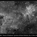 "IC 1805, ""Heart of Darkness"", Hα, 12 Nov 2016,                                David Dearden"