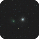 NGC362 and Comet C/2013 A1 (Siding Spring) August 28 2014,                                Kevin Parker