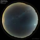 Winter sky mosaic with zodiacal light,                                Máximo Bustamante