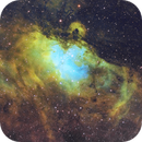 M16 The Eagle Nebula in narrowband,                                Kevin Ross