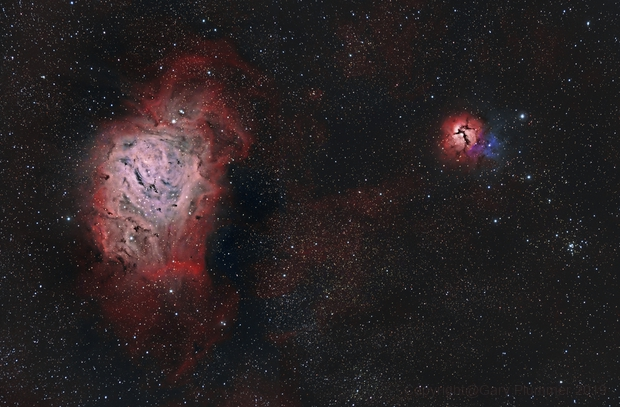 M8 Lagoon & M20 Trifid nebula,                                Gary Plummer