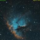 Pacman nebula in SHO,                                Tom's Pics