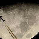 Moon crossed by airpline,                                sandrinex