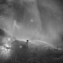 Horsehead Nebula (starless) imaged in Hydrogen-alpha,                                Andrew Klinger