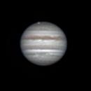 Jupiter, Ganymede (in transit), and Io on May 21, 2018,                                JDJ
