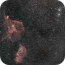 Heart Nebula, Soul Nebula and Perseus Double Cluster,                                pterodattilo