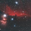 The Horsehead & Flame Nebula Ha/RGB,                                cclark