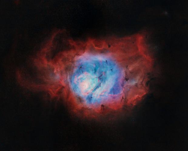 M8 - The Lagoon Nebula - Starless,                                nerdybeardo