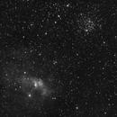 Bubble nebula (NGC 7635) + M52,                                nmac