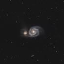 M51 Whirlepool Galaxy,                                AstroBDLbug