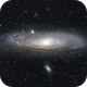 "M31 Andromda Galaxy -  11"" Celestron RASA  four 60"" exposures at f2.2,                                Gordon Bulger"
