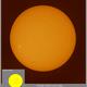 The Sun in H-alpha, ZWO ASI174MM, 20200606,                                Geert Vandenbulcke