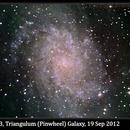 M33, Triangulum (Pinwheel) Galaxy, 19 Sep 2012,                                David Dearden