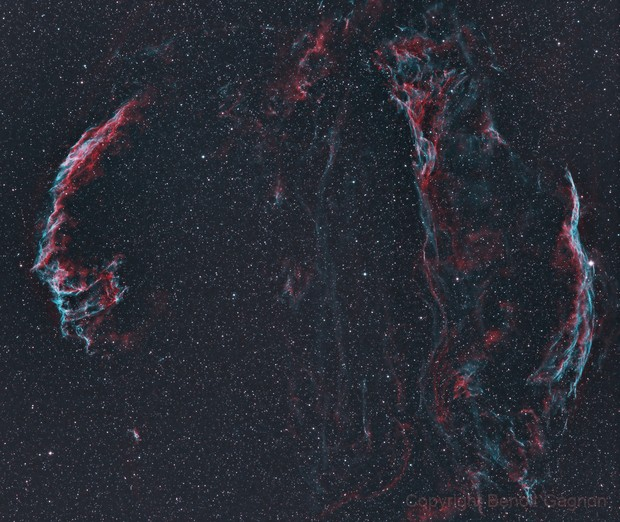 Veil Nebula test ,                                Benoit Gagnon