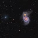 Whirlpool Galaxy M51 - wide field,                                Arnaud Peel