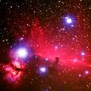 B33 Horsehead and NGC2024 Flame Nebula,                                Gilbert Ikezaki
