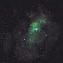Bubble Nebula in HST Palette,                                apaquette
