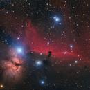The Flame and Horsehead Nebula,                                Danh