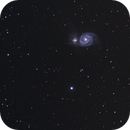 Whirlpool galaxy Messier 51,                                orooro