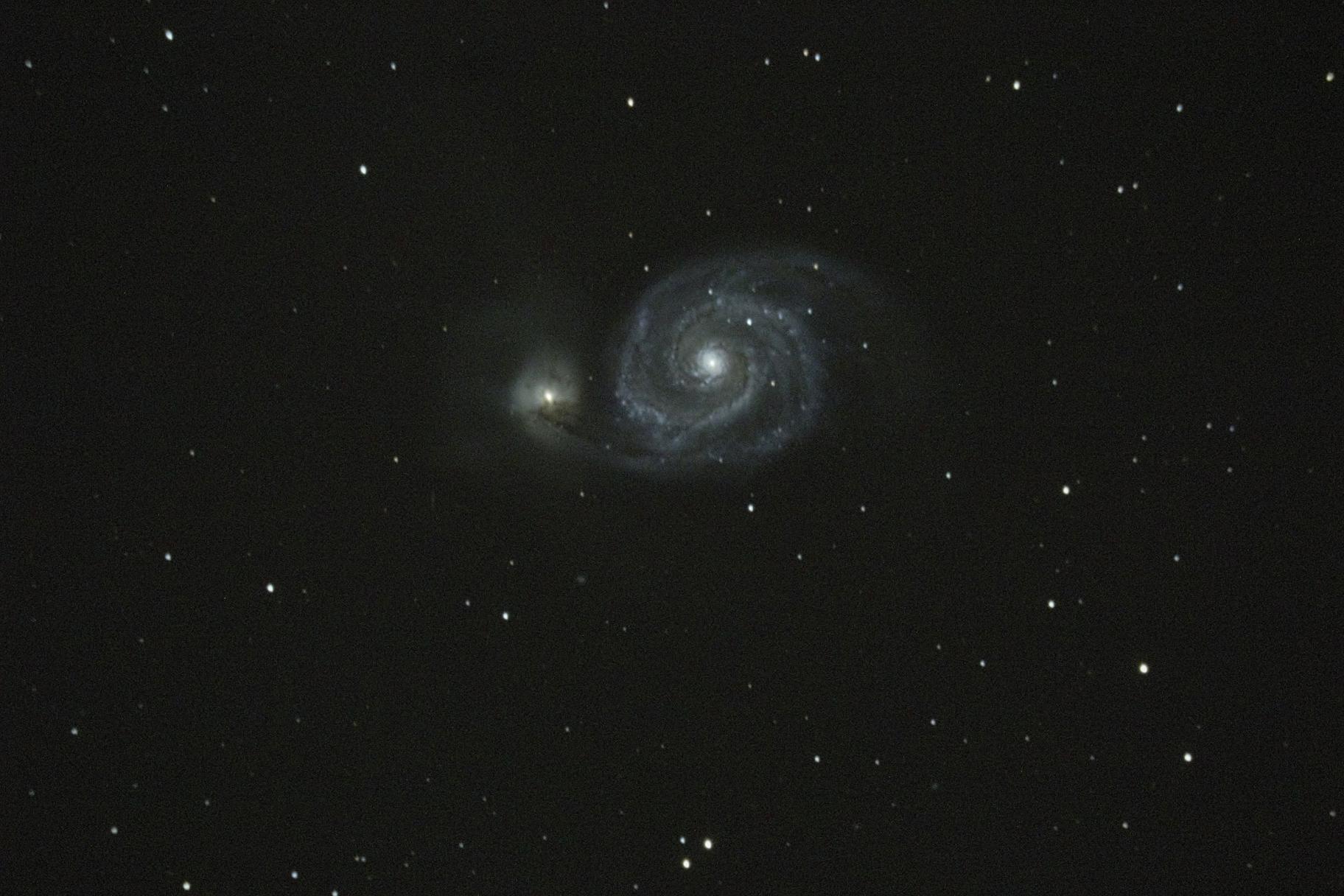 M-51 Whirlpool galaxy,                                Nick J