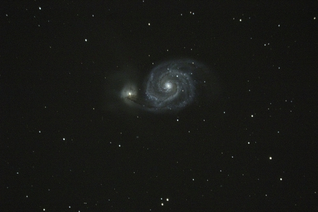 M-51 Whirlpool galaxy,                                Nick J