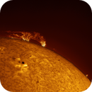 Solar prominence and AR 11734,                                Brian Ritchie