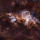 Statue of Liberty Nebula NGC 3576,                                nerdybeardo