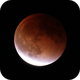 Lunar eclipse, end of totality (2015-09-27),                                evan9162