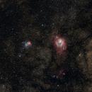 M8 & M20 :    Lagoon Nebula & Trifid Nebula  --  cropped 200mm snapshot,                                Günther Dick