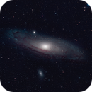 M31 slightly enhanced colours,                                Pyrasanth