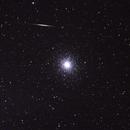 Cúmulo globular 47 Tucanae y meteoro,                                Angel Requena