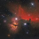 Flame & Horsehead Nebula,                                Lorenzo Palloni