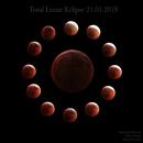 Lunar Clock - Total Lunar Eclipse 21.01.2019,                                andrealuna