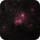 IC 2944, Running Chicken Nebula, revised in Photoshop,                                Steve Perry