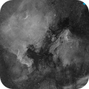 North America and Pelican Nebula - 4 panels Halpha Mosaic 4000x4000 pixels,                                Francesco di Biase