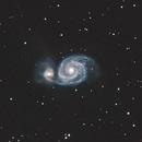 The Whirlpool Galaxy, M51a,                                raf2020