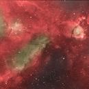 Heart Nebula in H-Alpha and OIII,                                fewayne