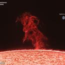 Huge solar prominence on August 15, 2016,                                Sebastian Voltmer