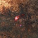Beach Made of Stars - M8 & M20, Lagoon Nebula and Trifid Nebula,                                nerdybeardo