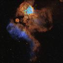 Sh2-311 - NGC 2467 in SHO/RGB,                                Uwe Deutermann