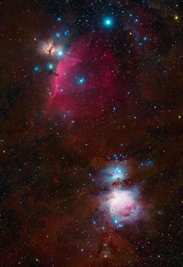 Region around M42 and the Horse Head,                                Wei-Hao Wang