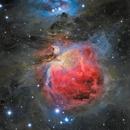 M42 Great Orion Nebula with NGC1999 on bottom left Ha+L-R(Ha)GB,                                seasonzhang813