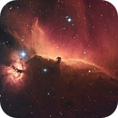 IC 434 Horsehead and Flame Nebula in HSO palette,                                Ariel Cappelletti