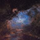 The Eagle Nebula is Landing (M16 in SHO),                                Florian_Pieper
