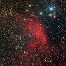 Sharpless2 88 in RGB with H-alpha,                                jerryyyyy
