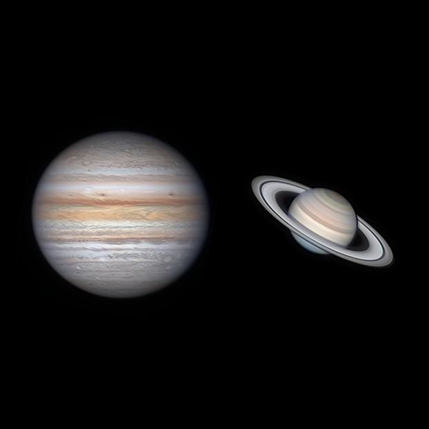 Jupiter and Saturn on 2021-07-10,                                Michael Wong