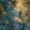 Lagoon Nebula and Trifid Nebula,                                Valentin