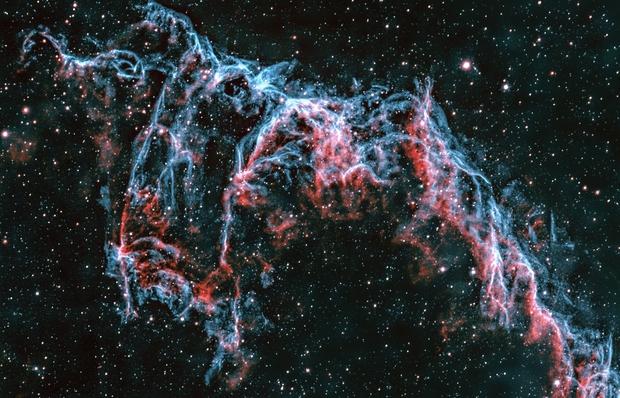 Bat Nebula in bi-color narrowband,                                Mike