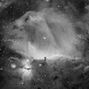 IC434 - La nébuleuse de la tête de cheval et de la flamme - Ha,                                AstromaC