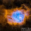 Messier 8 - The Lagoon Nebula  SHO,                                Paul Borchardt